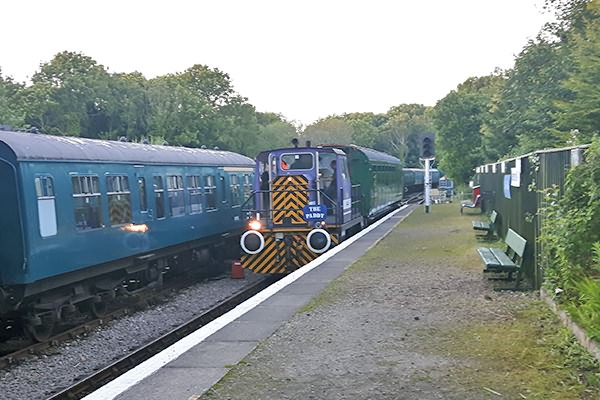 the train is seen here entering the platform at Shepherdswell