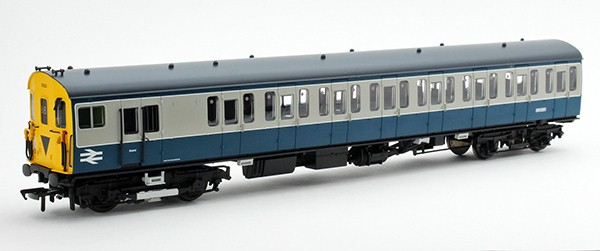 MBSO of unit 6063 in BR blue and grey showing a headcode of 84, three quarter shot
