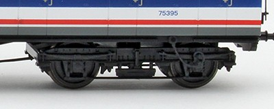 Showing the speedometer cable between the solebar and inner bogie on unit 4308the