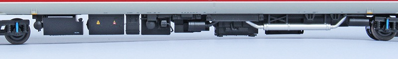 The fine underfloor detail on Bachmann's new version Class 158s and in this case 159s