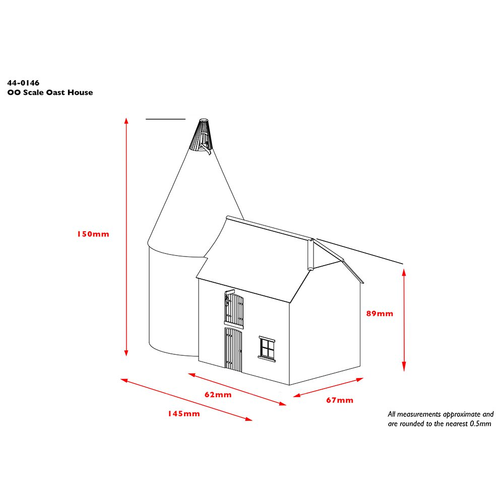 Dimensional diagram of Bachmann 44-0146 Oast House
