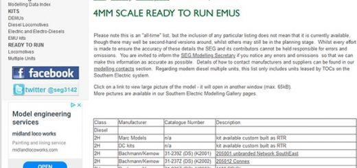SEG modelling page screen capture