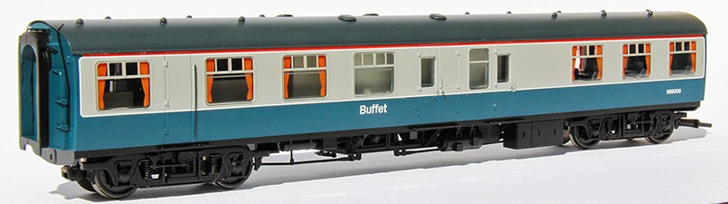 Buffet car counter side in BR blue & grey livery